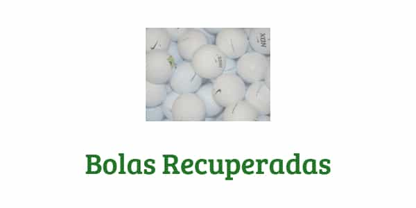 pelotas de golf recuperadas