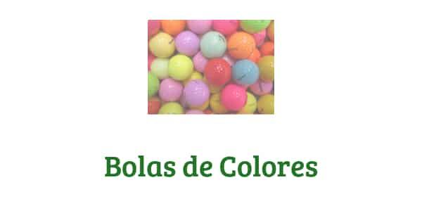 bolas de golf de colores