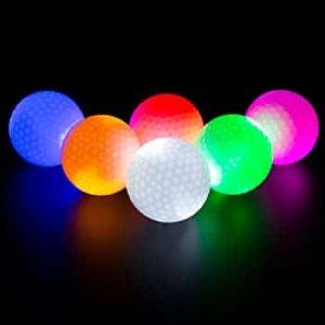 bolas de golf nocturnas