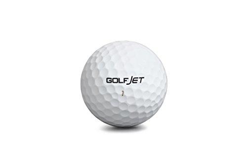 GolfJet JET3 Pack 12 x Premium JET3 Pelotas de Golf. Núcleo de 3 Capas de energía, Supersuave 338 Dimple Hex Aero