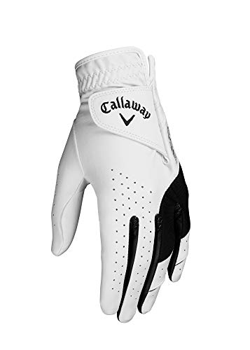 Callaway Weather Spann Guante de Golf, Mujer, Blanco/Negro, S