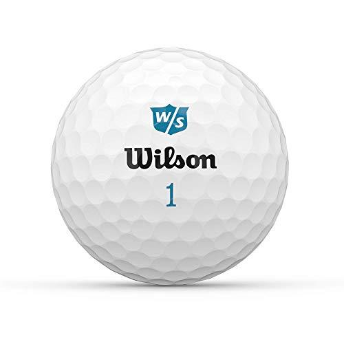 Wilson Staff Duo Soft Women Golf de Dos Piezas, Mujer, 12 Bolas, Unisexo-Adulto, Blanco, Talla única