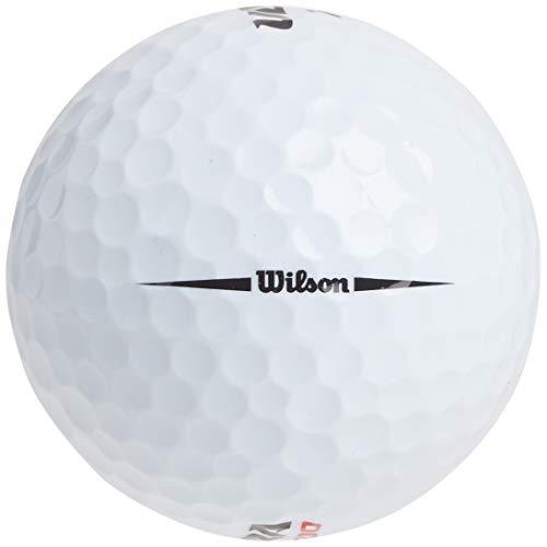 Wilson Ultra 500 - Pelota de Golf Recta (15 Unidades), Color Blanco