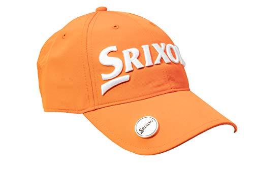 Srixon Gorra Ajustable con Marcador Magnetico, Talla Unica. (Orange/White)