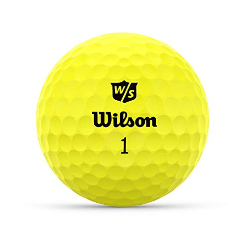 Wilson Staff Duo Optix Golf, 12 Bolas, Mate, fácil de Encontrar, Unisexo-Adulto, Amarillo, Talla única