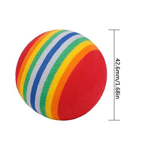 BESLIME Práctica Pelotas de Golf, 12 Unidades, Espuma, Indoor Práctica Esponja Espuma Bolas para Principiantes, niños y Aficionados, para Interior/al Aire lLibre Golf Práctica (Rojo)
