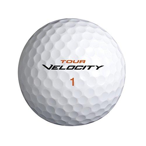 Wilson Staff, Bola de golf blanda, 2 capas, Hombre, Para máxima distancia, Pack de 15, Compresión 70, Cobertura de ionómero suave, Tour Velocity Distance, Blanco, WGWR60100