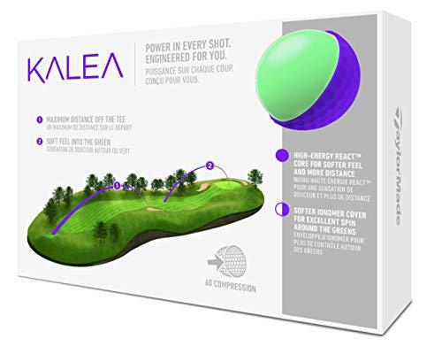 TaylorMade Kalea Dozen - Pelota de Golf para Mujer, Mujer, M7160001, Morado, One Dozen