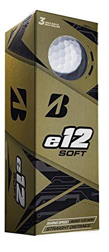 Bridgestone Golf Hombre Blanco E12 Soft (12 Bolas), Talla única
