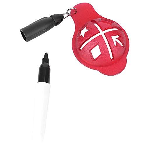 Keenso Rotulador de Bolas de Golf, Marcador de Golf, Accesorio de Golf, Marcador de Dibujo (Azul)