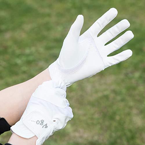 Vgo... Edad 11-12 Joven Guantes de Golf de Material Polyurethane y Licra Suaves y Transpirables (Talla M, Blanco, PU8001-JM)