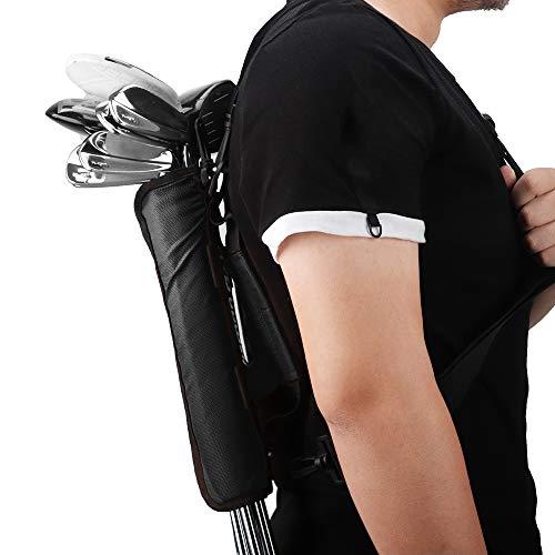Mini bolsa de transporte portátil, bolsa de hombro, ideal para campo de golf, bolsa de golf, correa de transporte (negro)