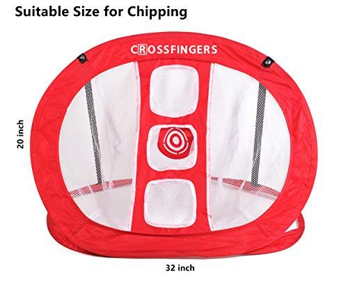 CROSSFINGERS - Red desplegable de golf para interior y exterior, accesorios de golf para golf, para golpear, cortar y pellizcar, precisión y práctica de swing