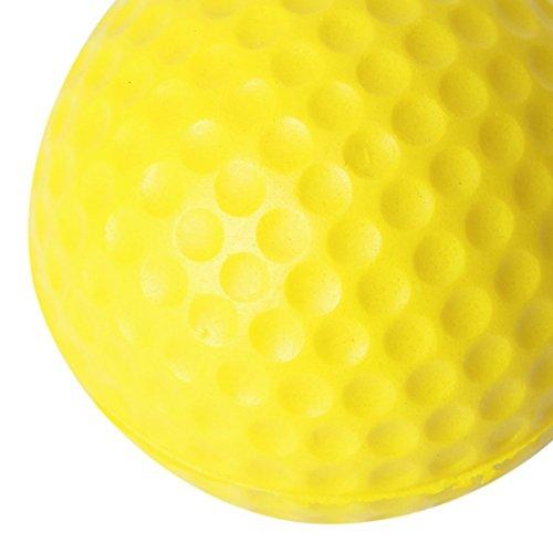 VORCOOL 10 Unidades Bolsas de Golf Pelotas de Golf Elástico Ssuave Interior Practique Amarillo