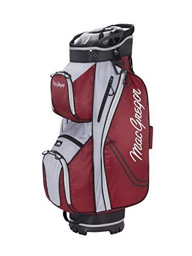 MACGREGOR MACBAG137 Golf Club Cart Bag, Unisex-Adult, Burgundy, One Size