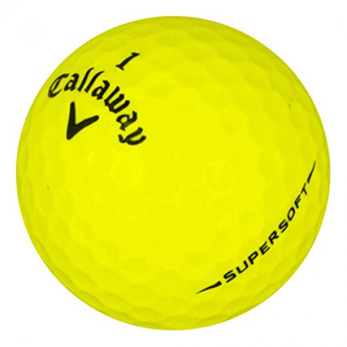Callaway SuperSoft Yellow Mint Lostgolfballs (12 Pack) (Pre-Owned Golf Balls)