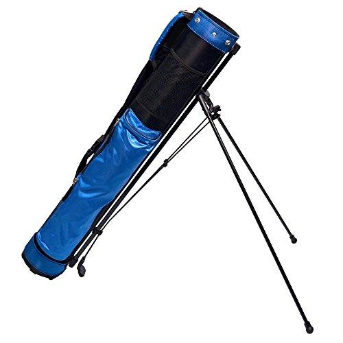 "LONGRIDGE Stand Bag Travelite Bolsa de Golf con Caballete 12.7 cm, Hombre, Azul/Plata, 5"""
