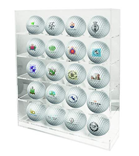 LONGRIDGE - Expositor para 20 Pelotas de Golf, Color Transparente