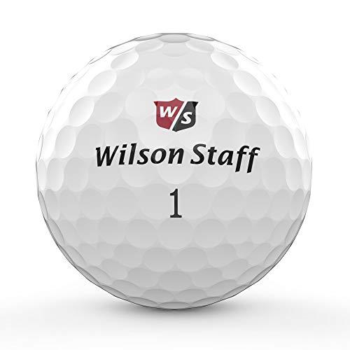 Wilson Golf W/S Duo Professional, Blanco, 12 Bolas, Compresión 60, 362 Hoyuelos, Uretano, WGWP39600