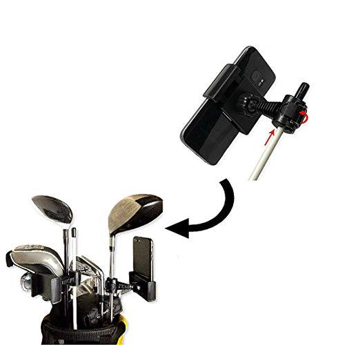Flyan Soporte para teléfono de golf para grabar el swing de golf, juego corto, rotación de 360°, universal, ajustable, para carrito de golf