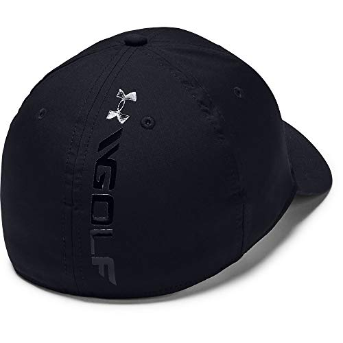 Under Armour Men's Golf Headline Cap 3.0, gorra con visera clásica, gorra para hombre hombre, Negro (Black/White (001)), M/L