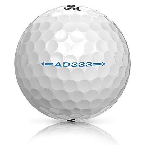 Srixon AD333 Bola de Golf, Modelo 2018, 1 Docena, Blanco