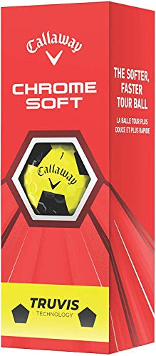 Callaway Chrome Soft 2020 Truvis Amarillo/Negro - 3 Manga de bola