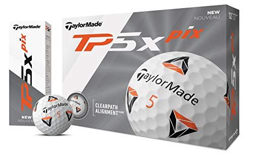 TaylorMade - TP5x - Bolas de Golf, Unisex Adulto, Pelota de Golf, Blanco, Talla única