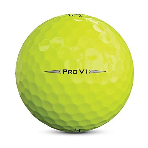 Titleist Pro V1 Bola de Golf, Hombres, Amarillo, Talla Única