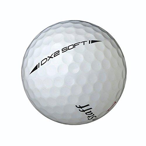 Wilson Staff, Bola de golf más blanda del mundo, 2 capas, Hombre, Para máxima distancia, Pack de 12, Jugadores avanzados, Compresión 29, Caucho, DX2 Soft, Blanco y Rojo, WGWP37100