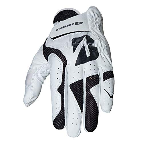 Bridgestone Guantes de Golf B Fit para Hombre, Color Negro, Talla S/M