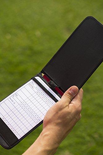 Callaway Scoreboard Karte Leder Halter Soporte para Tarjetas de Mando, Unisex, Negro, Talla Única