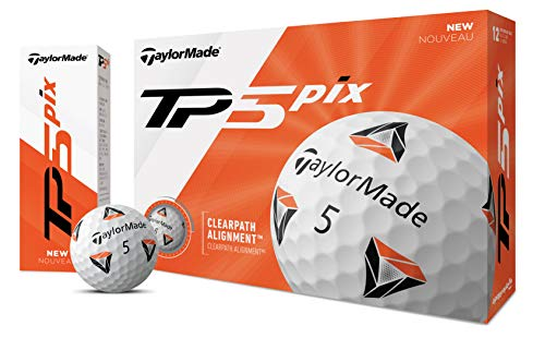 TaylorMade TP5 - Pelotas de Golf, Unisex Adulto, Pelota de Golf, Blanco, Talla única