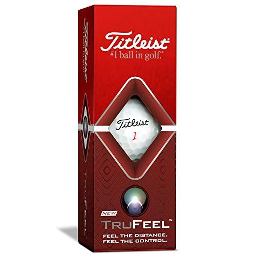Titleist TruFeel - Pelotas de golf - T6034S, Titleist TruFeel - Pelotas de golf, color blanco, números bajos 1-4 (una docena), Blanco