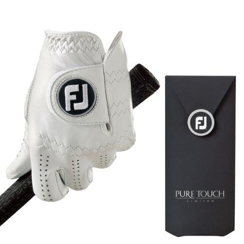 FootJoy Pure Touch - Guante de golf para la mano izquierda para hombre, color Blanco (Pearl), talla ML