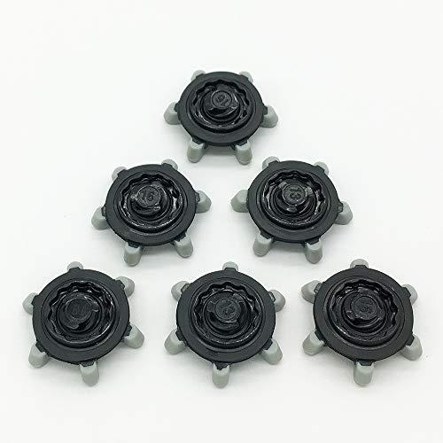 LONGKUN 28 puntas de repuesto para zapatos de golf de 3,0 mm de altura para zapatos de golf (negro, gris)