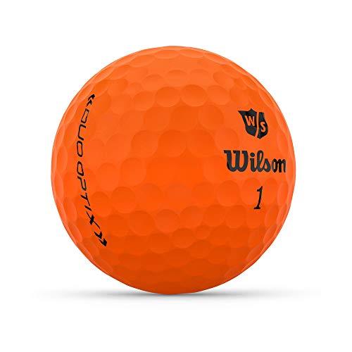 Wilson Staff Duo Optix Golf, 13 Bolas, Mate, fácil de Encontrar, Unisexo-Adulto, Naranja, Talla única