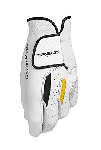 TaylorMade RBZ Leather Glove Guante, Hombre, Blanco, Large
