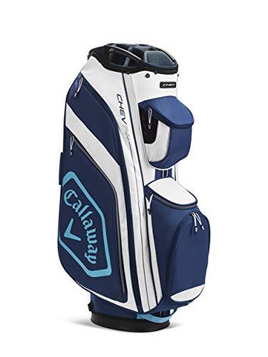Callaway Chev 14 + Cart Bag 2020, Adultos Unisex, Blanco/Navy/Azul Claro, Talla Única
