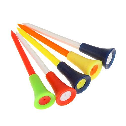WLKK Tees de Golf de plástico Multicolor Duradero, Clavo con Funda de Goma de 83 mm, Clavos de Copa, Accesorios para Golf Deportivo al Aire Libre