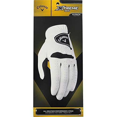 Callaway Xtreme 365–Guantes de Golf para Hombre (Pack de 2), Unisex, Color Blanco, tamaño S
