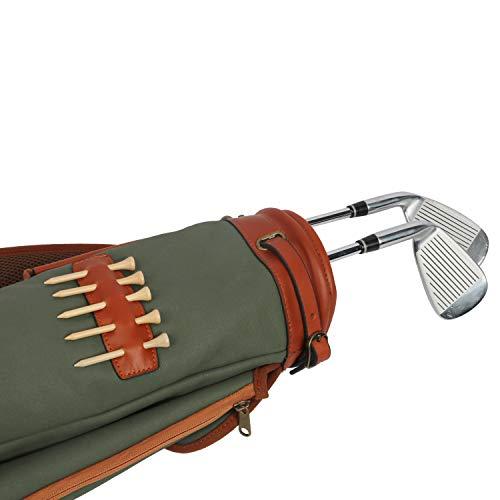 TOURBON Impermeable Lienzo Formación Práctica Golf Club Bolsa De Transporte Funda De Viaje con Suave Acolchado con Correa para El Hombro
