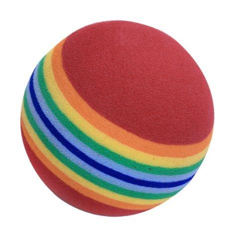 NiceButy Bolas de golf de práctica, 20 unidades, espuma, color arco iris, para práctica de golf en interior/exterior