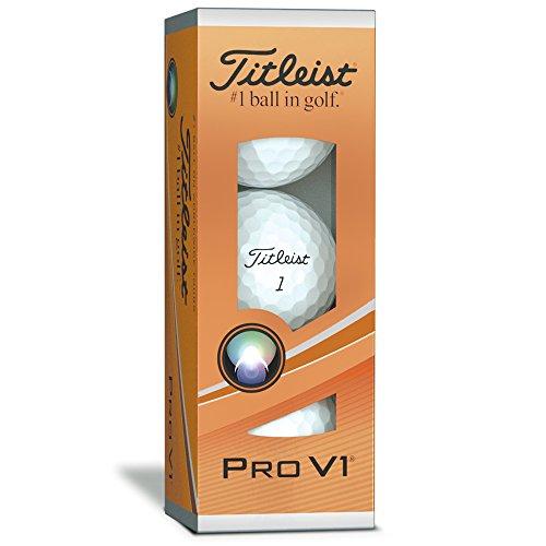 Titleist ProV1 Bolas 3 Capas de Golf, Unisex Adulto, Blanco, Talla Única