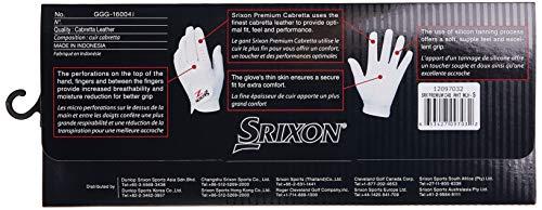 Srixon S0097032 Guantes de Golf, Hombre, Blanco, S