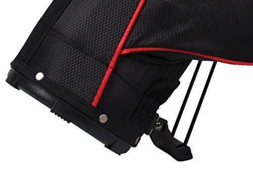 Ben Sayers - Bolsa de Golf con Soporte (15,2 cm) Negro Negro/Rojo Talla:No se Aplica