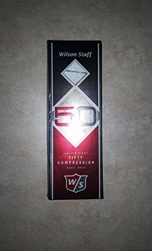 Wilson Staff Fifty Elite White Golf Balls (Pack of 3)