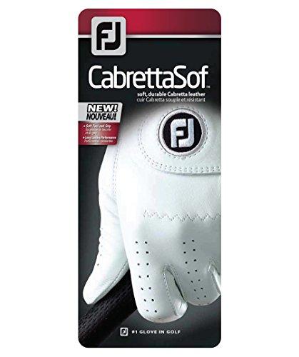 Footjoy CabrettaSof - Guantes para Hombre, Color Blanco, Talla M