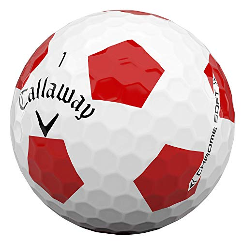 Callaway 64212571220 Accesorios de Golf, Unisex-Adult, Truvis Bianco/Rosso, Talla única