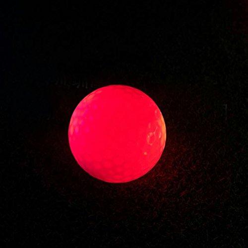 VORCOOLas Bolas de Golf Luminosas de la Noche de 3pcs LED encienden Las Pelotas de Golf Pelota de Golf Reutilizable de la Noche